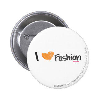 I Heart Fashion Orange Button