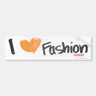 I Heart Fashion Orange Car Bumper Sticker