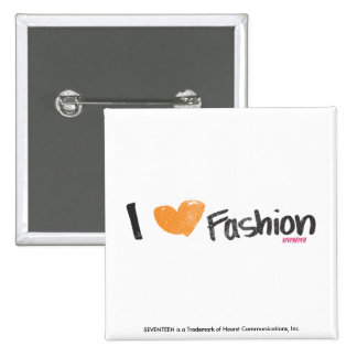 I Heart Fashion Orange Pinback Button