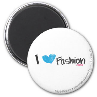 I Heart Fashion Yellow Magnet