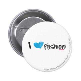 I Heart Fashion Yellow Pinback Button