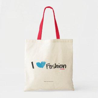 I Heart Fashion Yellow Tote Bag