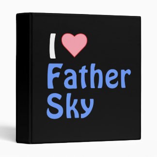 I heart father sky 3 ring binder