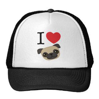 I Heart Fawn Pugs Trucker Hat