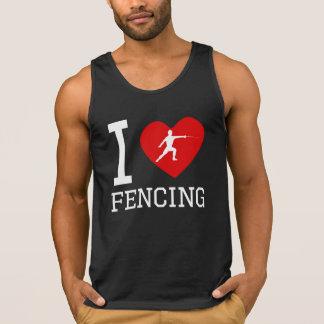 I Heart Fencing Tank Tops