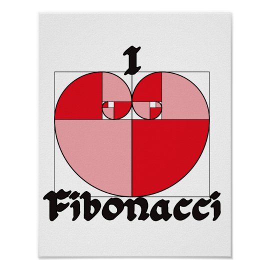 I heart Fibonacci Poster