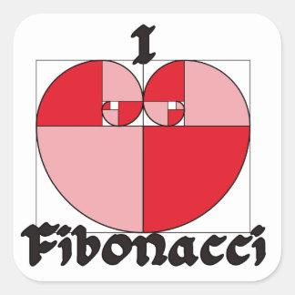 I Heart Fibonacci Square Stickers