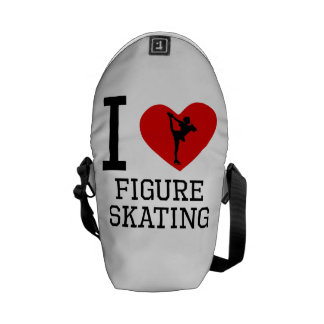 I Heart Figure Skating Courier Bag