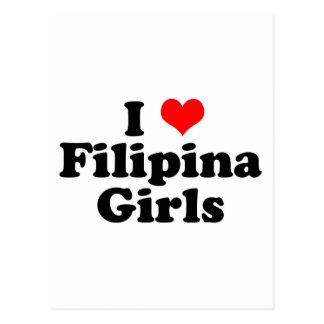 I Heart Filipina Girls Postcard