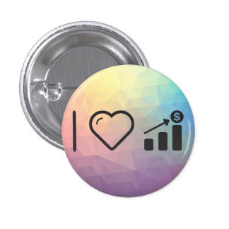 I Heart Financial Targets 1 Inch Round Button