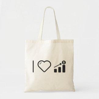 I Heart Financial Targets Budget Tote Bag