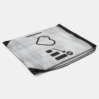 I Heart Financial Targets Drawstring Backpack
