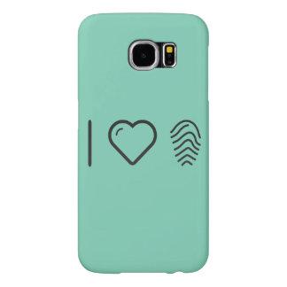 I Heart Fingerprint Results Samsung Galaxy S6 Cases