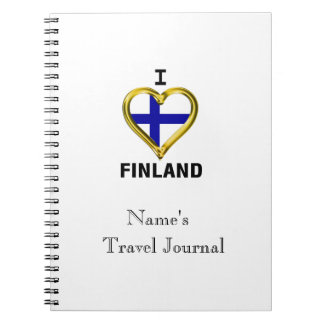 I HEART FINLAND SPIRAL NOTEBOOK