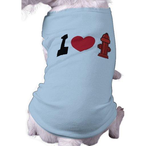 I Heart Fire Hydrants Dog T-Shirts Dog T-shirt