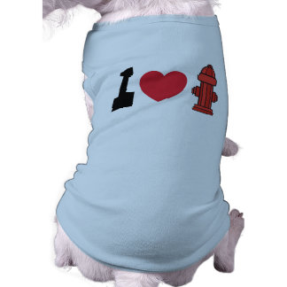 I Heart Fire Hydrants Dog T-Shirts Shirt