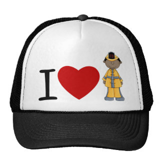 I Heart Firefighters African American Hat