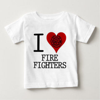 i heart firefighters baby T-Shirt