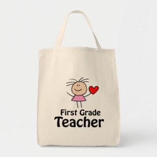 I Heart First Grade Teacher Tote Bag