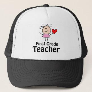 I Heart First Grade Teacher Trucker Hat