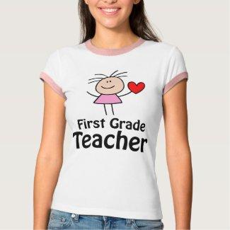 I Heart First Grade Teacher shirt