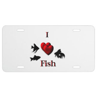 I Heart Fish License Plate