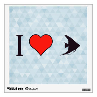 I Heart Fishes Wall Decal