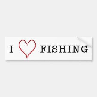 I [Heart] Fishing Bumper Sticker Car Bumper Sticker