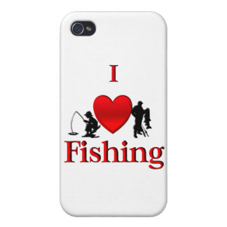 I Heart Fishing iPhone 4 Cover