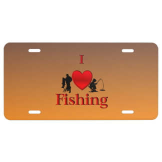 Fisherman license plates zazzle for Fishing license plate