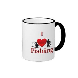 I Heart Fishing Mug
