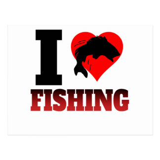 I Heart Fishing Postcard