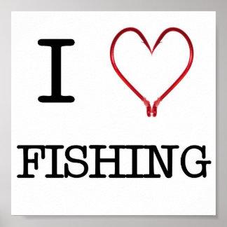 I [Heart] Fishing Poster