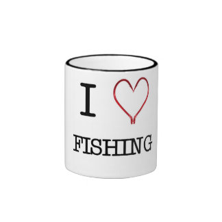 I [Heart] Fishing Ringer Mug