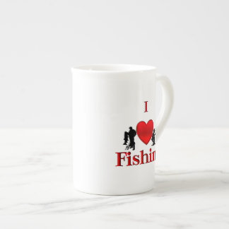 I Heart Fishing Tea Cup