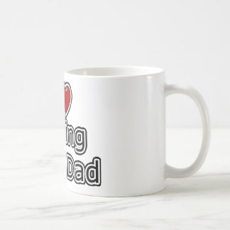 I Heart Fishing with Dad Coffee Mug