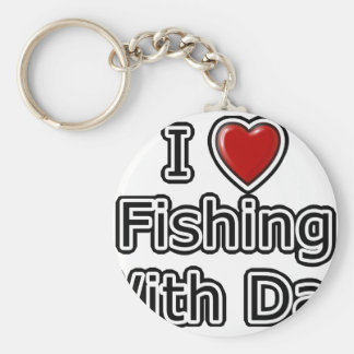 I Heart Fishing with Dad Keychain