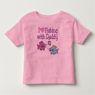 I Heart Fishing With Daddy Toddler T-shirt