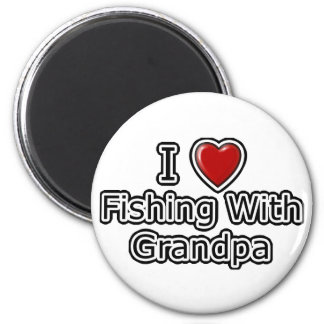 I Heart Fishing with Grandpa Magnets