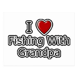 I Heart Fishing with Grandpa Postcard