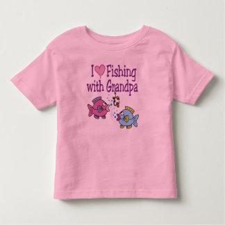 I Heart Fishing With Grandpa Toddler T-shirt
