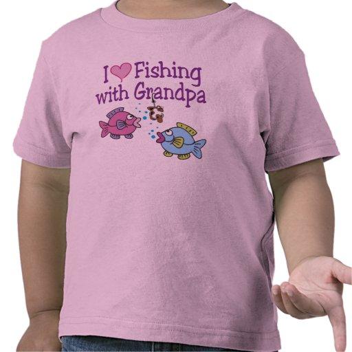 I Heart Fishing With Grandpa T-shirts