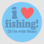 I Heart Fishing with Ohno - Sticker Sheet