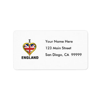 I Heart Flag England Label
