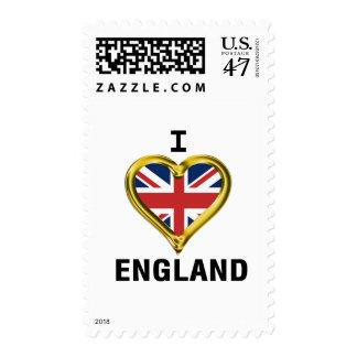 I Heart Flag England Postage