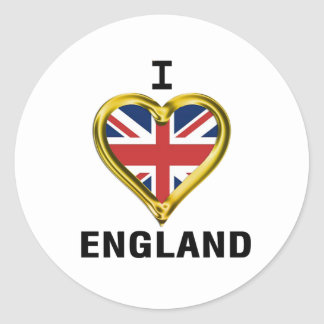 I Heart Flag England Round Sticker