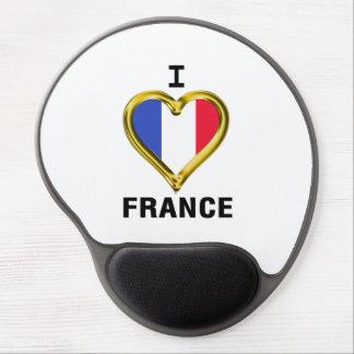 I Heart Flag France Gel Mouse Mats