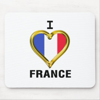 I Heart Flag France Mousepads