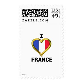 I Heart Flag France Stamp