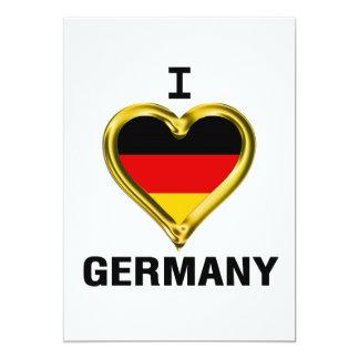 I Heart Flag Germany Card